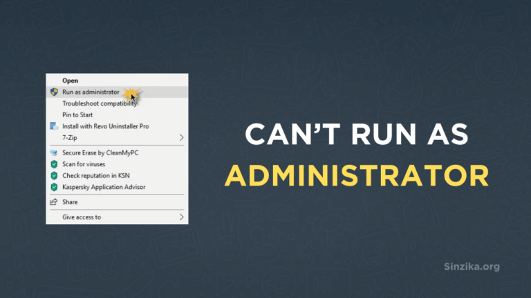 FIX: Can't Run as Administrator on Windows 10